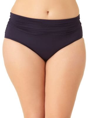 Color Blast Shirred Waist Swim-Bottom by Anne Cole Womens
