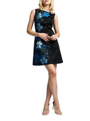 Floral Satin Dress by Teri Jon