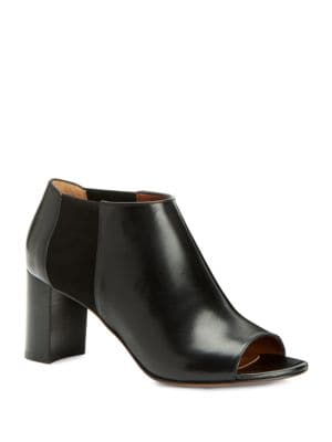 Shaw Leather Open-Toe Booties by Aquatalia