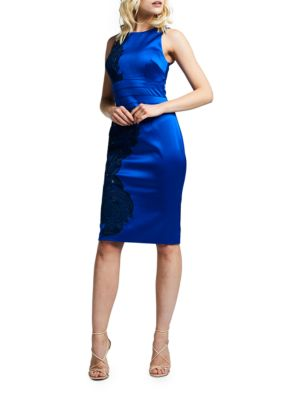 Satin Royal Bodycon Dress by Kay Unger