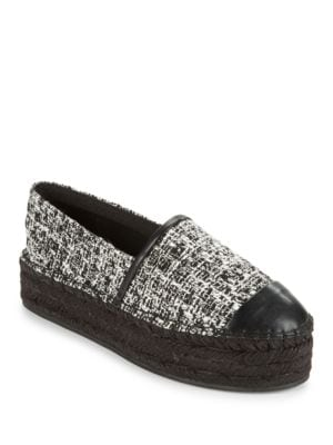 ALB17 Woven Platform Slip-On Shoes by Karl Lagerfeld Paris