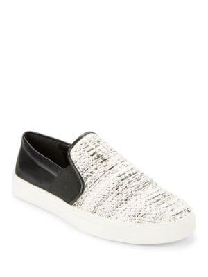 Elisha Leather Colorblocked Slip-On Sneakers by Karl Lagerfeld Paris