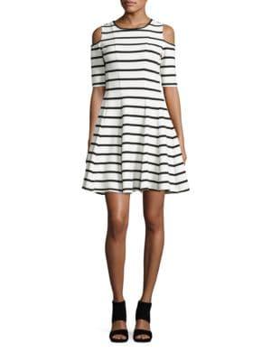 Gabby Style Stripe Flared Dress by Gabby Skye