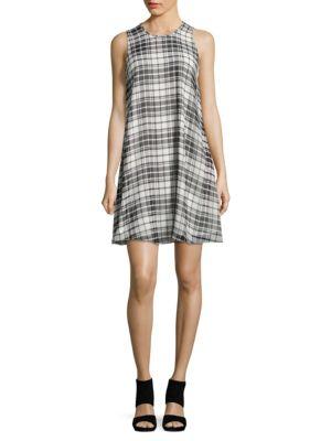 Plaid Trapeze Dress by Calvin Klein