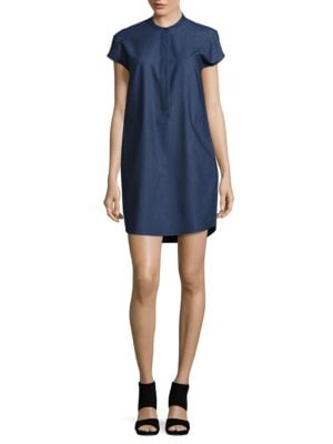 Chambray Shift Dress by Calvin Klein