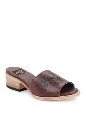 Path Slip-On Block-Heel Sandals by Freebird By Steven