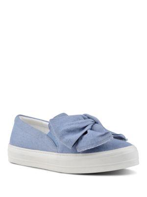 Onosha Denim Slip-On Sneakers by Nine West