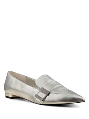 Metallic Leather Flats by Nine West