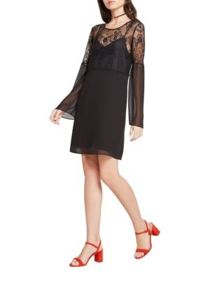 Lace Long-Sleeve A-Line Dress by BCBGeneration