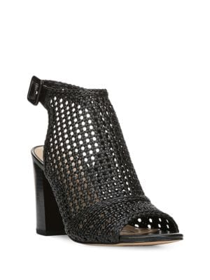 Evie Basket-Weave Leather Sandals by Sam Edelman