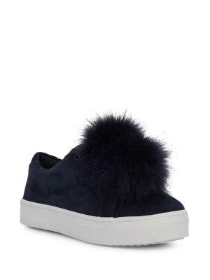 Leya Faux Fur Trim Suede Sneakers by Sam Edelman