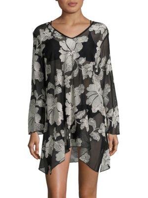 Floral-Printed Dress by J Valdi