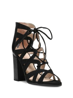 Meena Leather Blend Sandals by Franco Sarto
