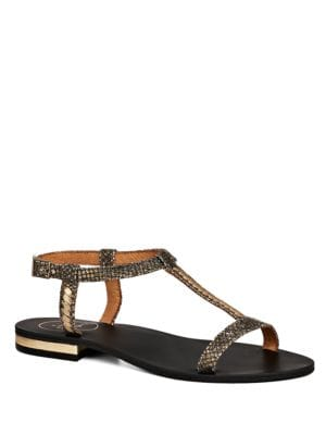Cheney T-Strapped Leather Sandals by Jack Rogers