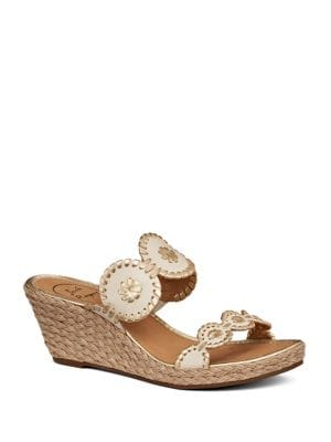 Shelby Leather Wedge Sandals by Jack Rogers