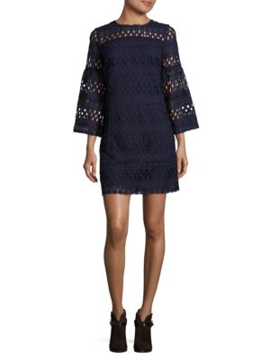 Bell-Sleeve Lace Dress by Laundry by Shelli Segal