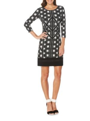 Allover Printed Dress by Laundry by Shelli Segal