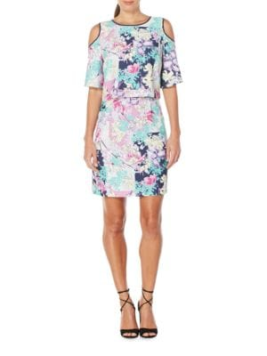 Cold-shoulder Popover Dress by Laundry by Shelli Segal