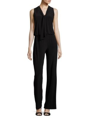 Front-Tie Sleeveless Jumpsuit by Laundry by Shelli Segal