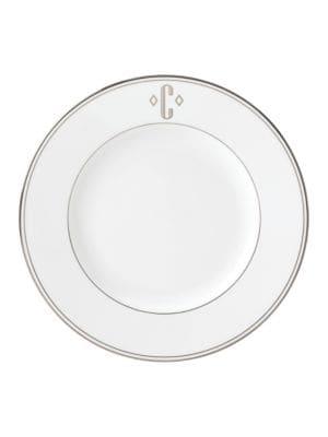 Federal Monogram Block Dinner Plate photo