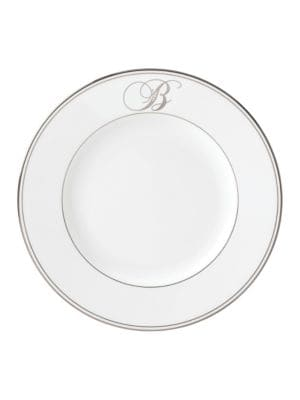 Federal Monogram Script Dinner Plate photo