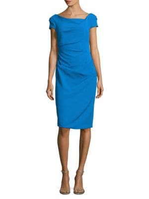 Side Ruched Sheath Dress by Adrianna Papell