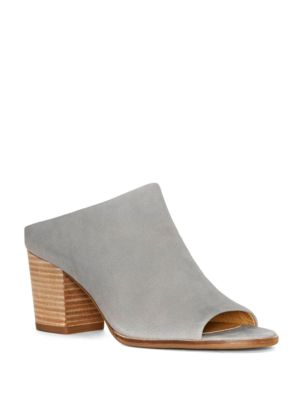 Organza Leather Block-Heel Mules by Lucky Brand