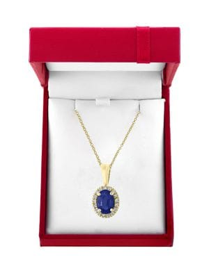 Image of Royale Bleu Diamond, Natural Sapphire and 14K White Gold Necklace