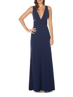 Deep V-Neck Cutout Gown by Laundry by Shelli Segal