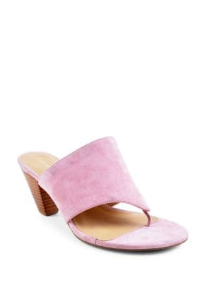 Prusha Kid Suede Thong Sandals by Adrienne Vittadini