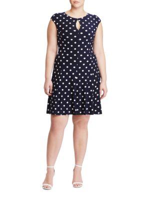 Polka-Dot Jersey Dress by Lauren Ralph Lauren