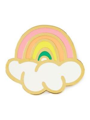 Rainbow Enamel Pin @...