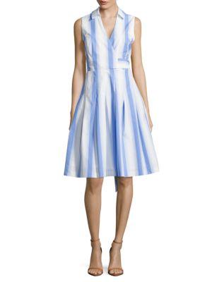 Striped Mock-Wrap Dress by Guess