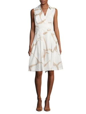 Abstract Mock-Wrap Dress by Ivanka Trump