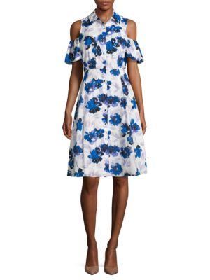 Floral Cold-Shoulder Dress by Ivanka Trump