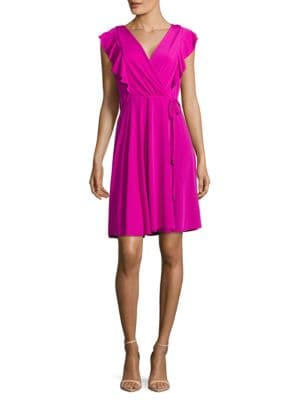 Ruffled V-Neck Wrap Dress by Ivanka Trump