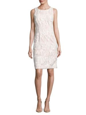 Sequined Floral Sheath Dress by Ivanka Trump
