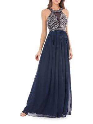 Embellished Empire-Waist Gown by Js Collections