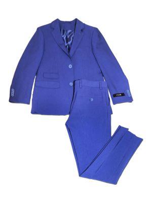 Solid TwoPiece Suit Set