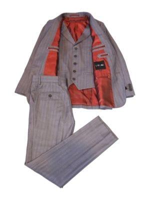 Striped ThreePiece Vested Suit Set