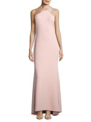 Crepe Halter Gown by Calvin Klein