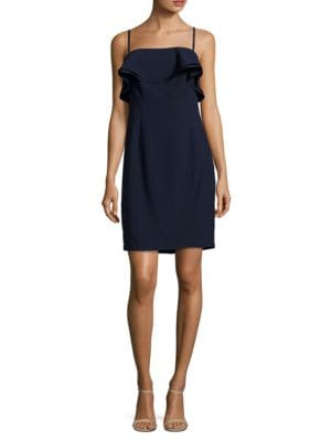 ??leeveless Ruffled Sheath Dress by Karl Lagerfeld Paris