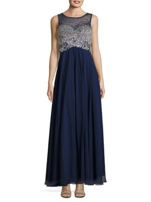 Embellished Flared Gown by Xscape
