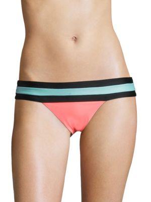 Colorblock Low-Waist Bikini Bottom by PilyQ