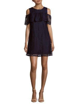 Lace Cold-Shoulder Dress by Taylor