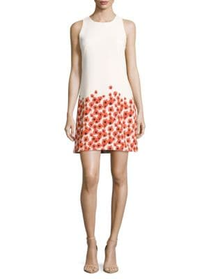 Sleeveless Floral-Print Dress by Ivanka Trump