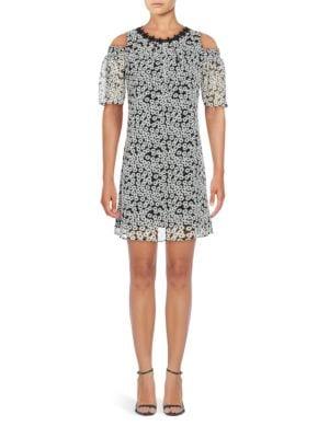 Floral Cold-Shoulder Dress by Eliza J
