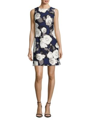 Floral Sleeveless Straight Dress by Taylor