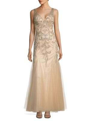 Beaded Open-Back Gown by Sean Collections