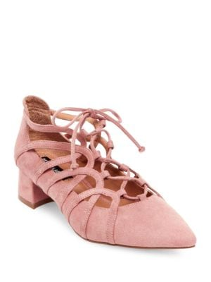 Faux Suede Lace-Up Heels by Design Lab Lord & Taylor